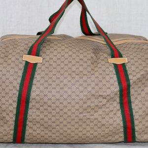 GUCCI Tan vintage Travel Duffle bag made ITALY